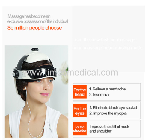 Electric head massager with air pressure and heating Music massager machine