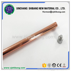 Pure Copper Threaded Stainless Steel Grounding Rod