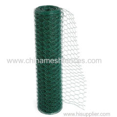 "1/2"" mesh hole PVC coated hexagonal chicken wire mesh"