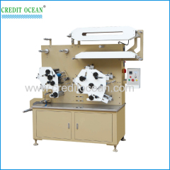 Flexo label printing machine for garment wash care labels