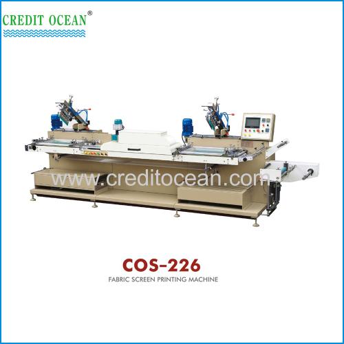 Fabric screen printing machine
