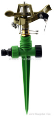 Garden irrigation brass sprinkler