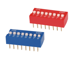 8 posizione / modo dip switch foglio di dati nel / colore rosso blu