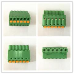 Paso de 5,08 mm 10A PCB primavera sin tornillos Bloque terminal conectable Conector