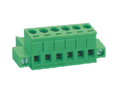 Horizontal Pluggable PCB Terminal Blocks with Screw Flanges