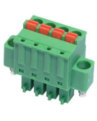 Screw type terminal blocks pluggable