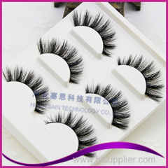 Customized Packaging Designs 8mm length 3D Multi-Layered Mink Lashes
