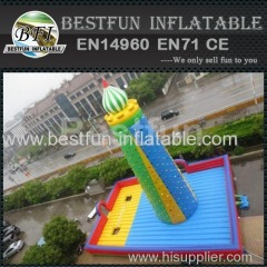 Large inflatable climbing game