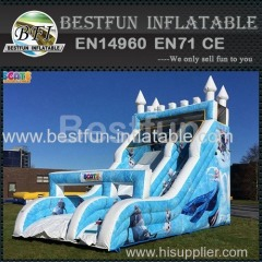 kids commercial inflatable frozen slide
