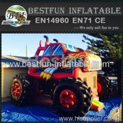 Giant Monster Truck Inflatable combo