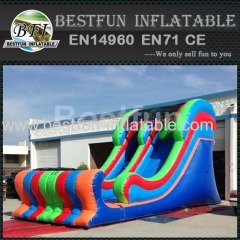colorful commercial water slide