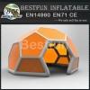 8m orange exhibition pvc tarpaulin inflatable yard tent