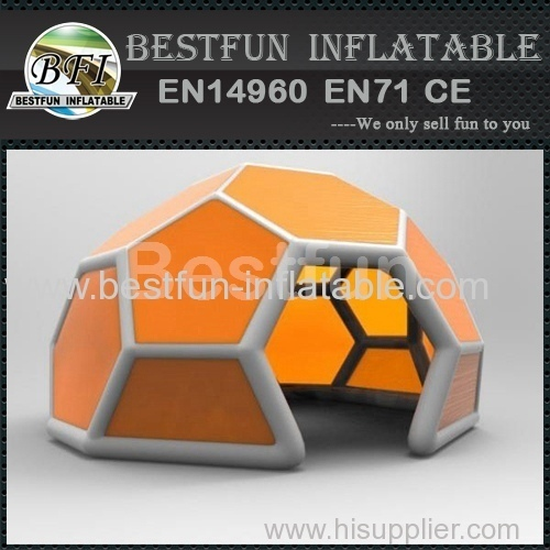 8m orange exhibition pvc tarpaulin inflatable yard tent