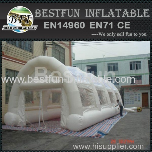 Clear inflatable tunnel tent