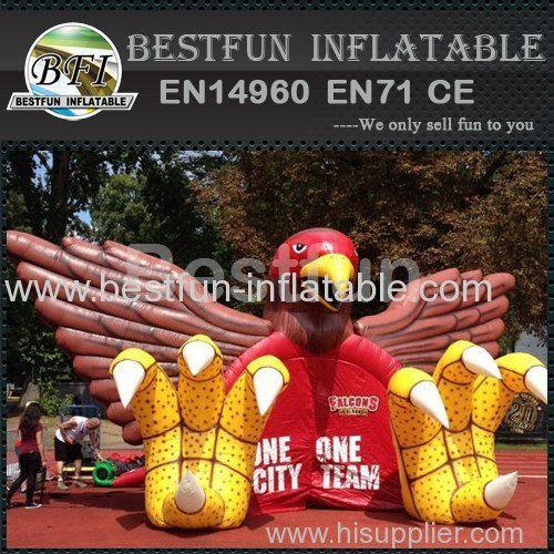 Large eagle inflatable tunnel for sport