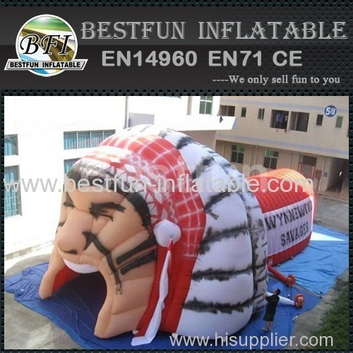 Commerical inflatable warrior tunnel