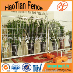 2.1x2.4m Hot-dipped Galvanized Welded Temporary Fencing Australia Round Pipe Temporary Fencing