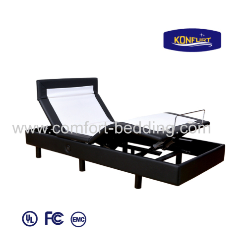 Three Motors Electric Bed Adjusatble Bed Head, Lumbar & Foot up Down with Bed Skirt