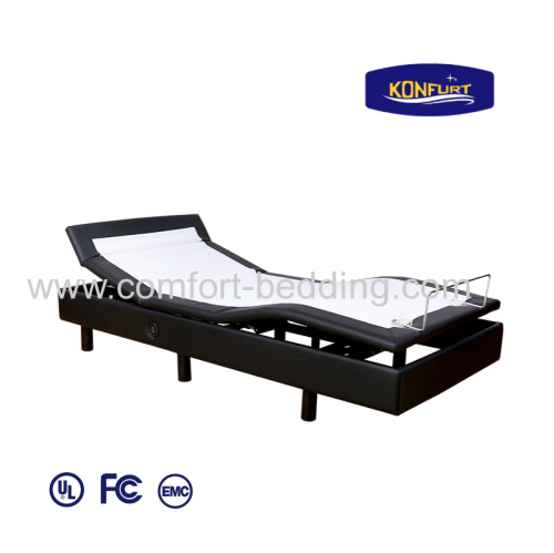 Three Motors Electric Bed Adjusatble Bed Head tilt head & Foot up Down with Bed Skirt