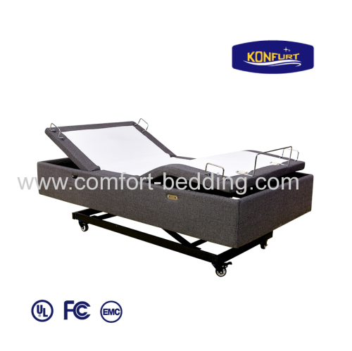 Unique Design Hi-Lo function Head & Foot up Down Electric Adjustable Bed with massage function led lighting