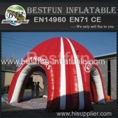 Red inflatable tent for car