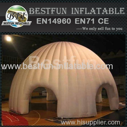 white entrance inflatable igloo