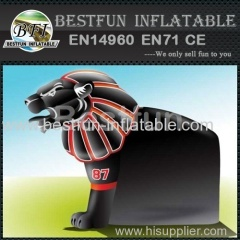 sport decorative inflatable helmet tunnel