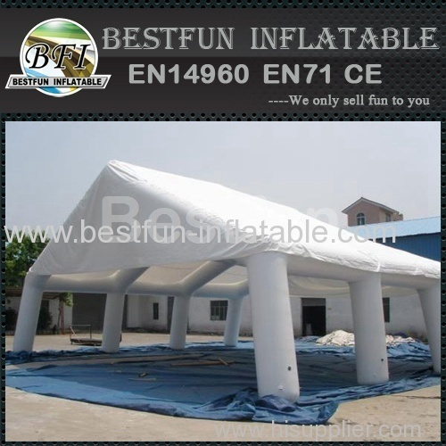 White inflatable wedding tent