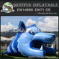 advertising inflatable football helmet tunnel