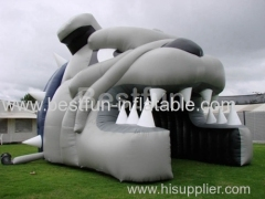 advertising inflatable football tunnel