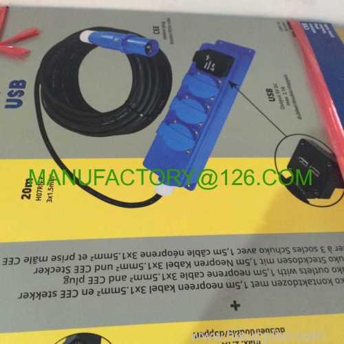 STKKER/PLUG RUBBLE vde H07RN-F USB DOUBLE