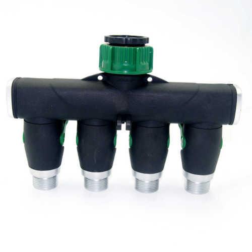 Plastic Garden 4-Way Water Splitter