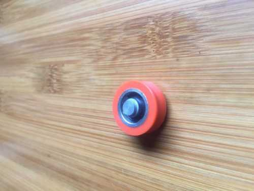 Nylon mini plastic wheel roller bearing