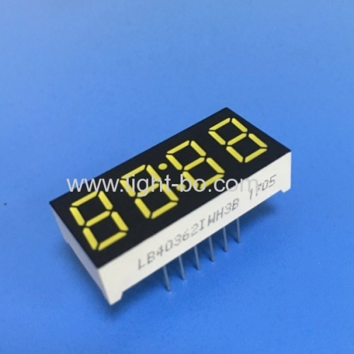 Ultra white 4 digits 0.36 common anode 7 segment led clock display for STB / Oven Timer