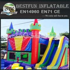 5 in 1 bounce house purple base colorful castle