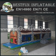 giant inflatable running obstacle