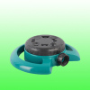 Rotating garden water sprinkler with circle base