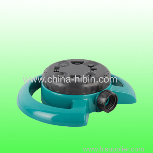 Plastic rotating irrigation sprinkler