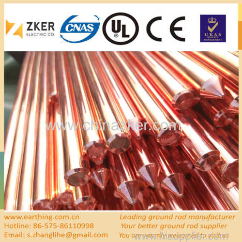 lightning protection copper coated ground rod