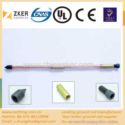 copper weld sectional grounding rod