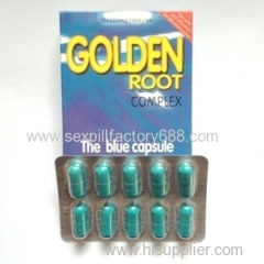 natural 10*300mg Golden Root Blue Capsules Sex Pill for men penis enlargement