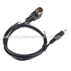3.5MM output cable connection for kenwood car radio