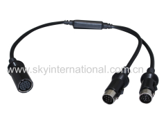 Kenwood 13pin One Female to Two Male Adapter