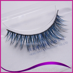 Mixed colors of real fox fur strip eyelash