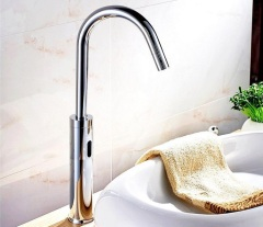 Laboratory faucet height induction tap