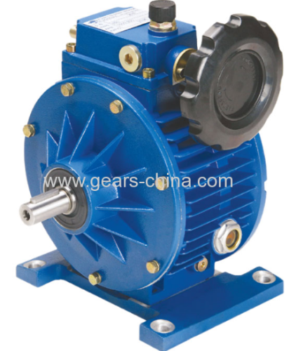 Variable speed reducer ud combined worm gearbox with for Variable speed gear motor
