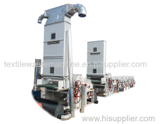 SBT600 opening machine +GM 250 textile waste cleaning machine with chute feeder