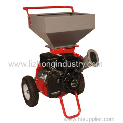 6.5hp 2 blade 75mm chipping capacity chipper shredder;branch chipper