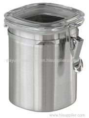 Stainless Steel Coffee Storage Container Airtight Coffee Canister