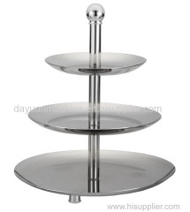 3 Tier High Quality Stainless Steel Fruit Plate Candy Plate For Home Party Wedding
